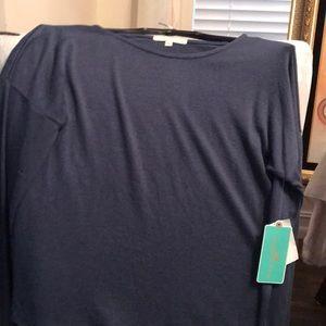 Copper key girls L navy long sleeve shirt NWT